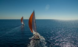 Two Moe 55 Yachts sailing
